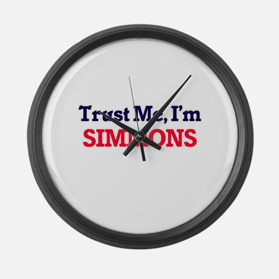 Trust Me, I'm Simmons Large Wall Clock