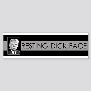 Trump: Resting Dick Face Bumper Sticker