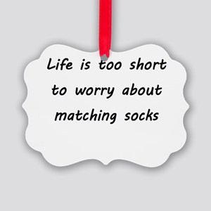 Matching socks Picture Ornament