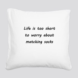 Matching socks Square Canvas Pillow