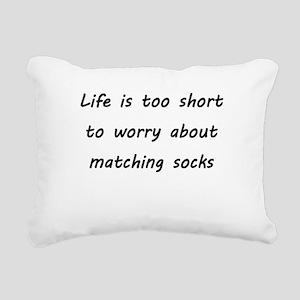 Matching socks Rectangular Canvas Pillow