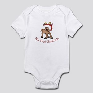 First Christmas Deer Infant Bodysuit