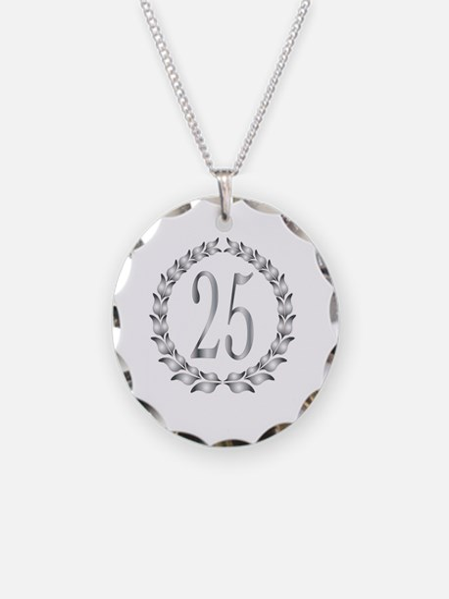 Cute Silver anniversary Necklace
