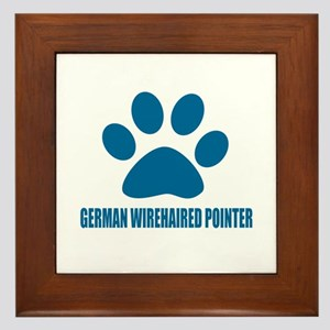 German Wirehaired Pointer Dog Designs Framed Tile