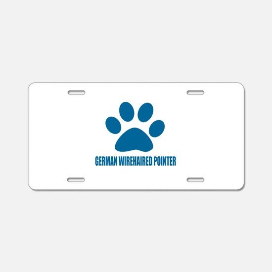 German Wirehaired Pointer D Aluminum License Plate
