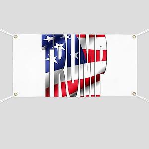 Trump 2016 USA Flag Banner