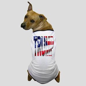 Trump 2016 USA Flag Dog T-Shirt