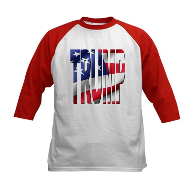 Trump 2016 USA Flag Kids Baseball Tee Trump 2016 USA Flag