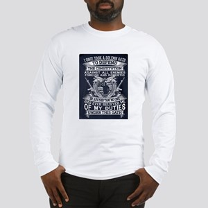 OATH TO DEFEND CONSTITUTION. Long Sleeve T-Shirt