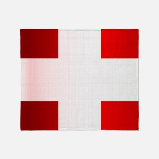Cool Swiss cross Throw Blanket