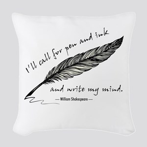 Write My Mind Woven Throw Pillow