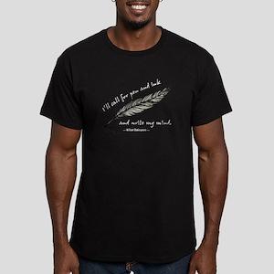 Write My Mind Men's Fitted T-Shirt (dark)