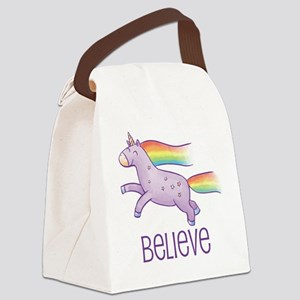 Belive in Unicorns Canvas Lunch Bag