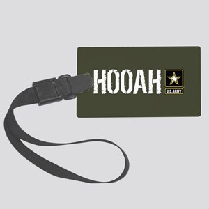 U.S. Army: Hooah (Military Green Large Luggage Tag