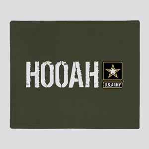 U.S. Army: Hooah (Military Green) Throw Blanket