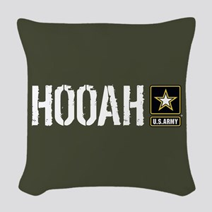 U.S. Army: Hooah (Military Gre Woven Throw Pillow