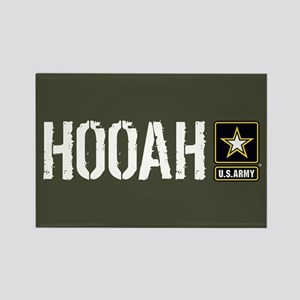 U.S. Army: Hooah (Military Green) Rectangle Magnet