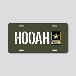 U.S. Army: Hooah (Military Aluminum License Plate