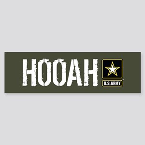 U.S. Army: Hooah (Military Green) Sticker (Bumper)