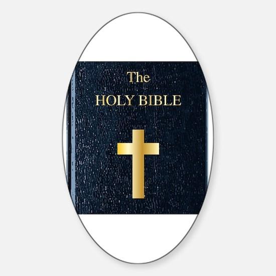 Cute Holy bible Sticker (Oval)