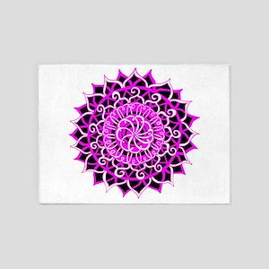 Sunburst Mandala 1 5'x7'Area Rug