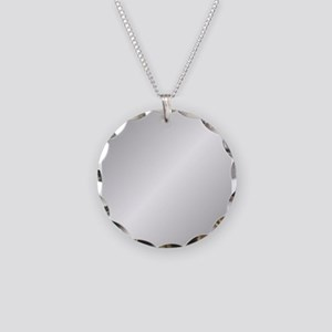 Silver Shine Necklace Circle Charm