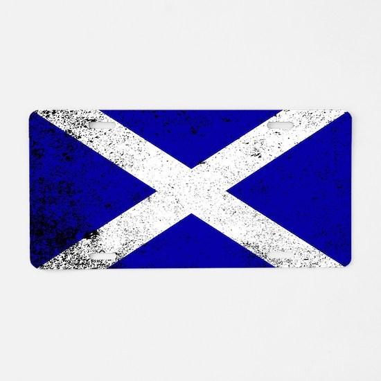 Unique Scot Aluminum License Plate
