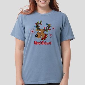 Merry Christmas Reinde Womens Comfort Colors Shirt