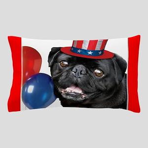 Patriotic pug dog Pillow Case