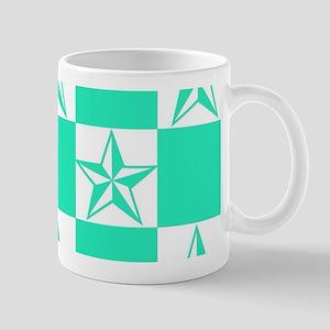 Mint Green Tattoo Stars Mugs