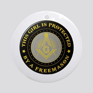 Protected by Freemason Round Ornament