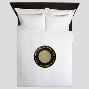 Protected by Freemason Queen Duvet