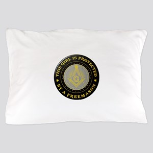 Protected by Freemason Pillow Case