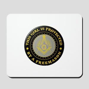 Protected by Freemason Mousepad