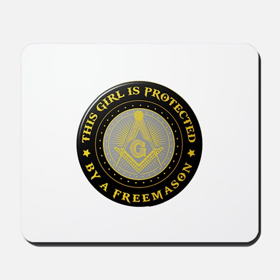 Protected by Freemason Mousepad