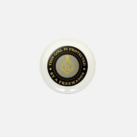 Protected by Freemason Mini Button (10 pack)