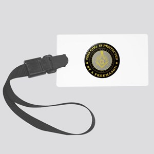 Protected by Freemason Luggage Tag