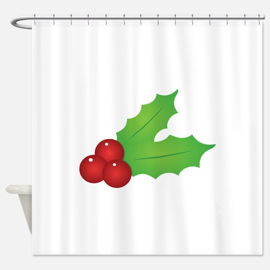 Christmas Holly Shower Curtain
