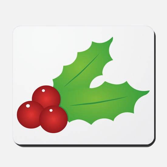 Christmas Holly Mousepad