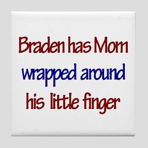 Braden - Mom Wrapped Around Tile Coaster