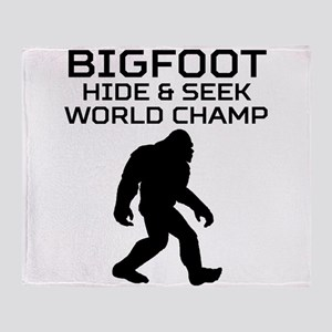 Bigfoot Hide And Seek World Champ Throw Blanket