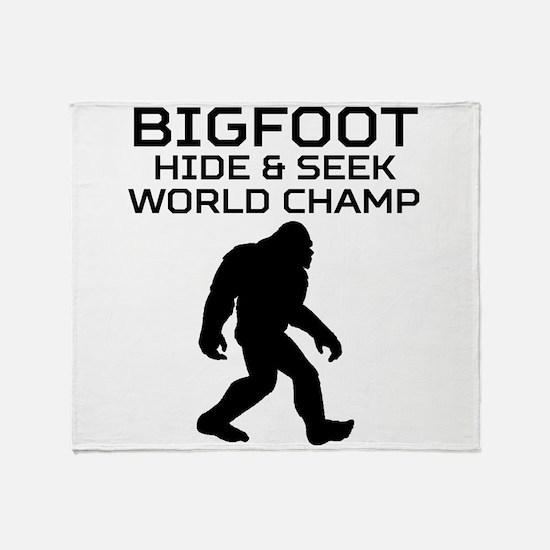 Bigfoot Hide And Seek World Champ Throw Blanket