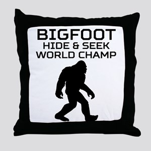 Bigfoot Hide And Seek World Champ Throw Pillow