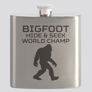 Bigfoot Hide And Seek World Champ Flask