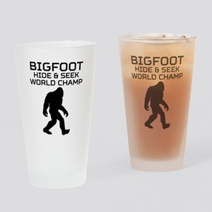 Bigfoot Hide And Seek World Champ Drinking Glass