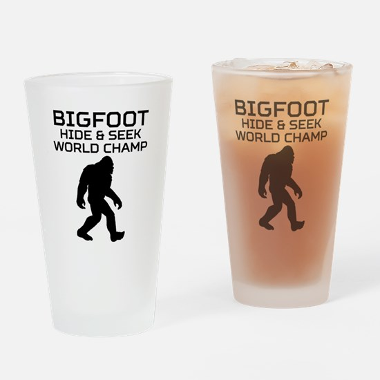 Bigfoot Hide And Seek World Champ Drinking Glass