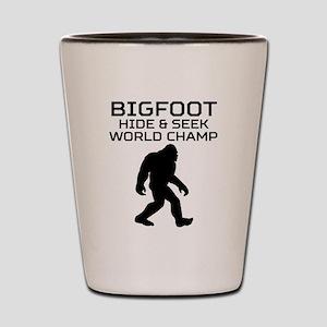 Bigfoot Hide And Seek World Champ Shot Glass