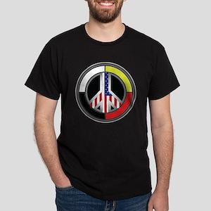 Peace America Circle Dark T-Shirt