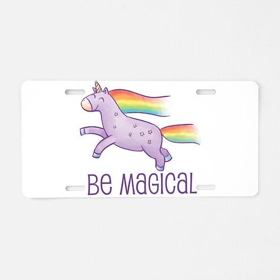 Be Magical Aluminum License Plate