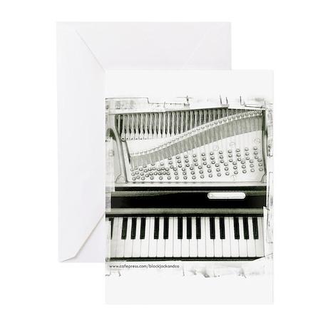 Piano Sq Greeting Cards (Pk of 10)